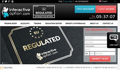 interactive option régulation