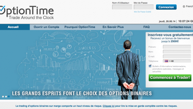 optiontime plateforme de trading
